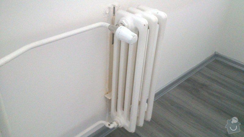 Výměna radiátoru v bytě.: odstraneni-detail