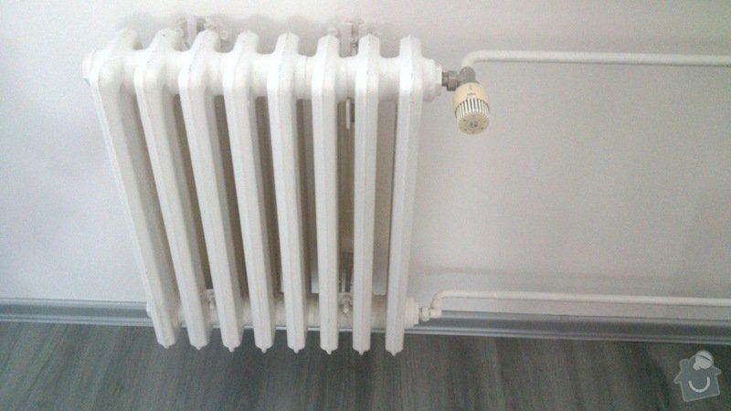 Výměna radiátoru v bytě.: vymena