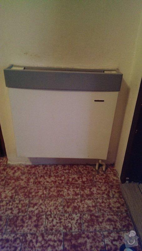 Výměna radiátorů (5ks) + termostatické hlavice: chodba