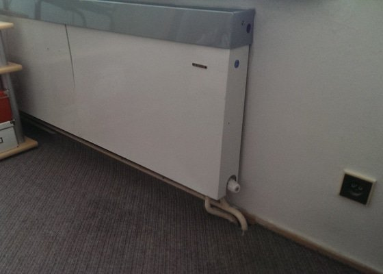 Výměna radiátorů (5ks) + termostatické hlavice