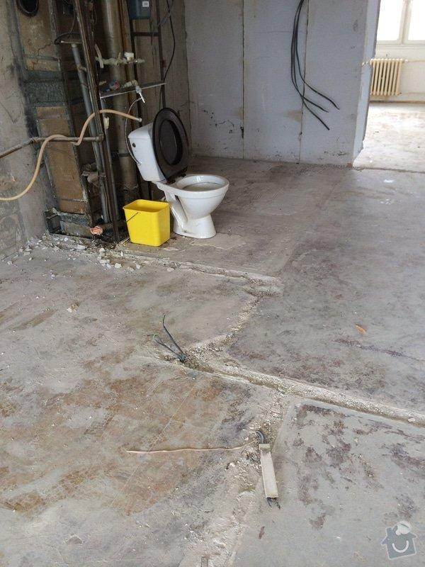 Rovnáni podkladu pro finalni podlahy, bourání, stěrka: detail1