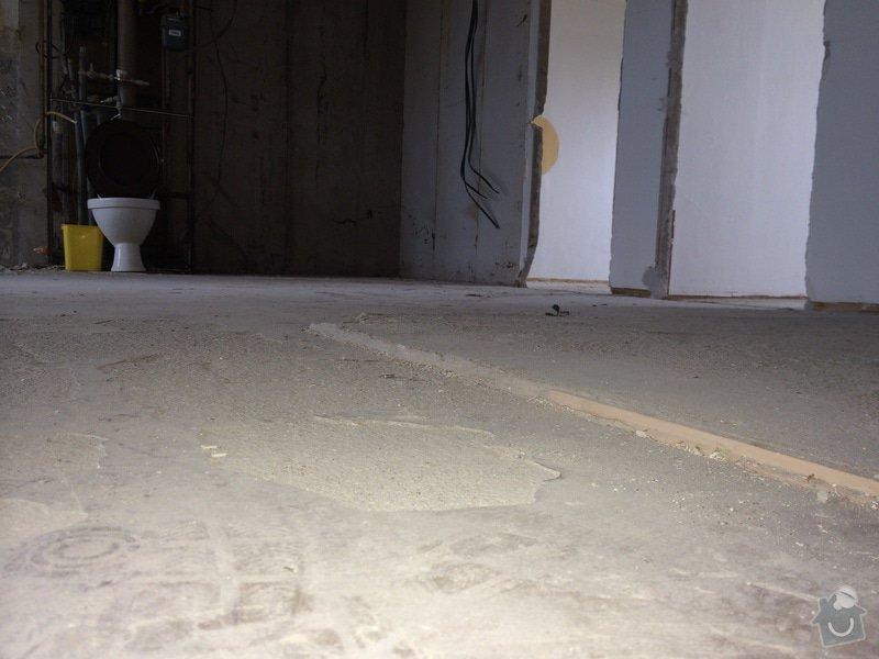 Rovnáni podkladu pro finalni podlahy, bourání, stěrka: detail2