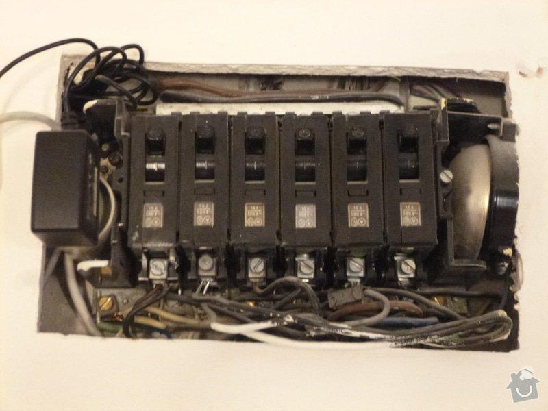Kontrola a oprava elektrických rozvodů v bytě: P1080231