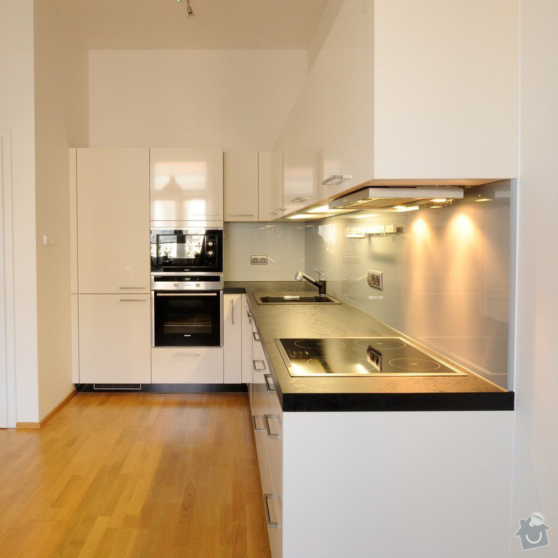 Kuchyně pro mladý pár do bytu, Praha: DSC_3662