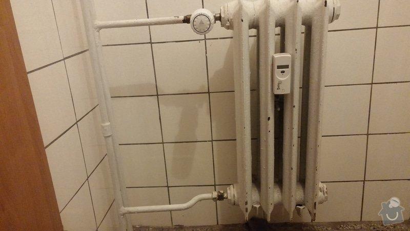Výměna/odmontování radiátoru v koupelně: 20140701_082311