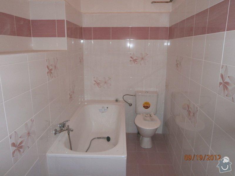 Kuchyn + koupelna + dlažba: koupelna_P9190036