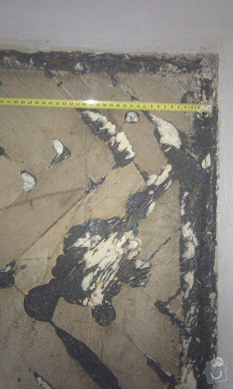 Vyřešit problém dřevěné podlahy lepené v asfaltu:32m2: LozniceIMAG2351