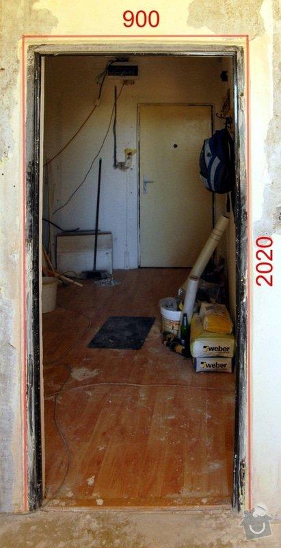 Výřez 2 ks zárubní / úprava stavebního otvoru v panelu pro nové dveře.: Dvere_detsky_pokoj