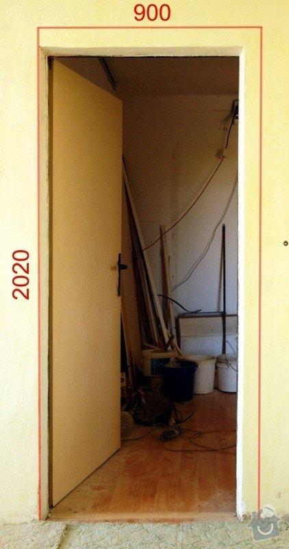 Výřez 2 ks zárubní / úprava stavebního otvoru v panelu pro nové dveře.: Dvere_pokoj