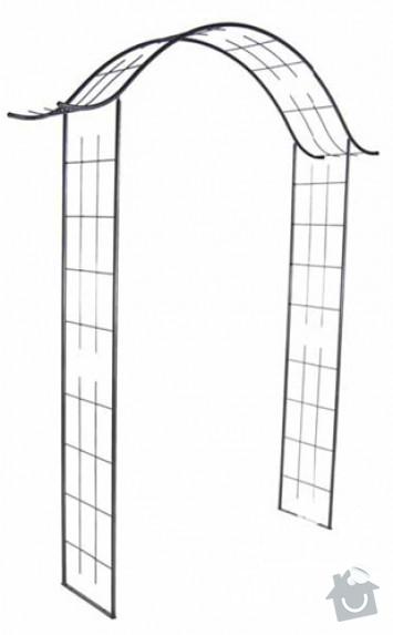 Zahradní kovový oblouk : jap.oblouk