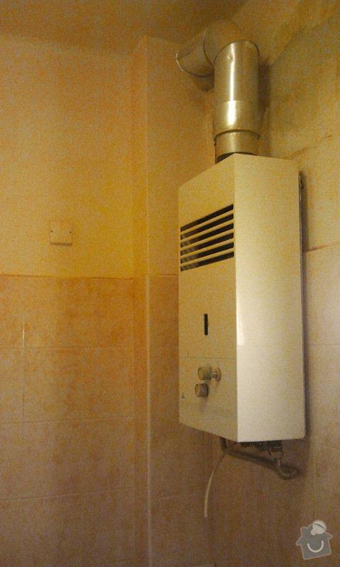 Výměna plynového ohřívače vody za elektrický bojler.: bojler