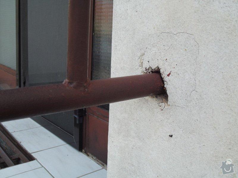 Rekonstrukce venkovního schodiště - bytovka, Svídnice u Dymokur: DSCF0861