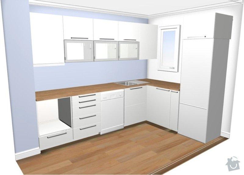 Montáž kuchyně IKEA: kuchyn-3D
