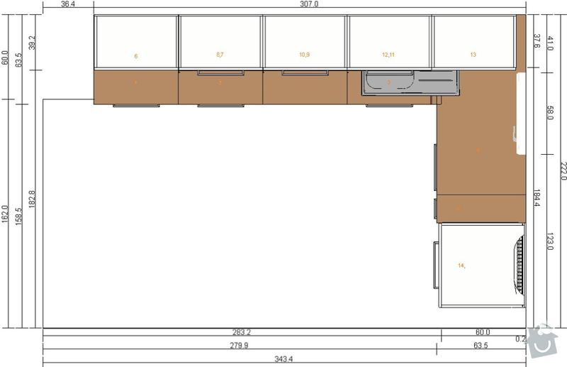 Montáž kuchyně IKEA: kuchyn-horni