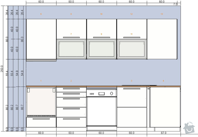 Montáž kuchyně IKEA: kuchyn-predni1