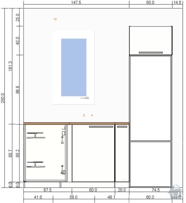 Montáž kuchyně IKEA: kuchyn-predni2