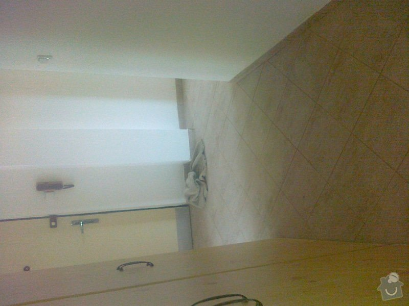 Pokládka lina (2 pokoje), pokládka dlažby chodba, malířské práce (3 pokoje a kuchyň), zednické úpravy (1 sádrokartonová příčka): 200620141472