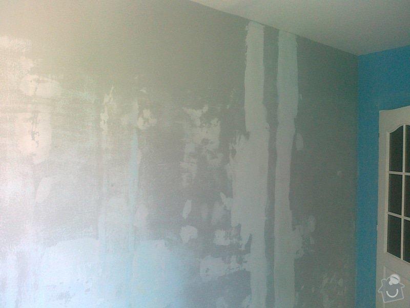 Pokládka lina (2 pokoje), pokládka dlažby chodba, malířské práce (3 pokoje a kuchyň), zednické úpravy (1 sádrokartonová příčka): 110620141456