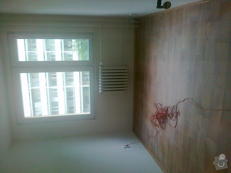 Pokládka lina (2 pokoje), pokládka dlažby chodba, malířské práce (3 pokoje a kuchyň), zednické úpravy (1 sádrokartonová příčka): 200620141471