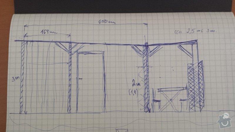 Oprava dřevných Podlah , Výroba zahradní pergoly: 20140707_143056
