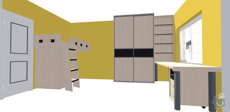 Vybavení dětského pokoje nábytkem na míru: Knesplova_2