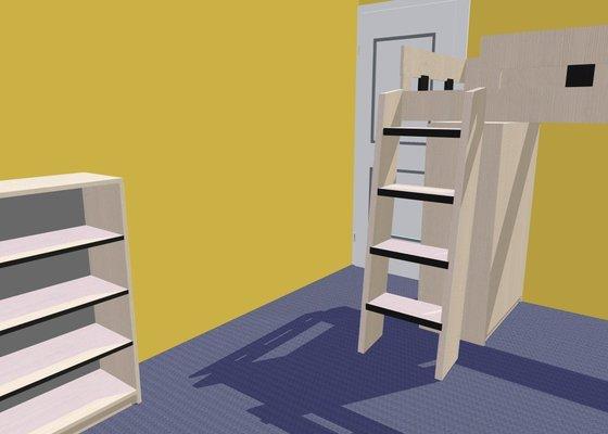 Vybavení dětského pokoje nábytkem na míru