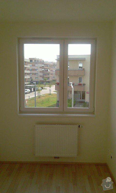 Žaluzie (3 okna + balkon), síť proti hmyzu (2 okna): loznice