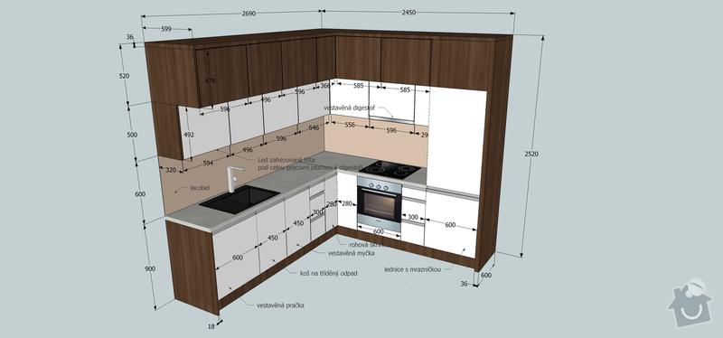 Výroba a montáž kuchyňské linky, předsíně a obývací stěny na míru: kuchy__rozmery