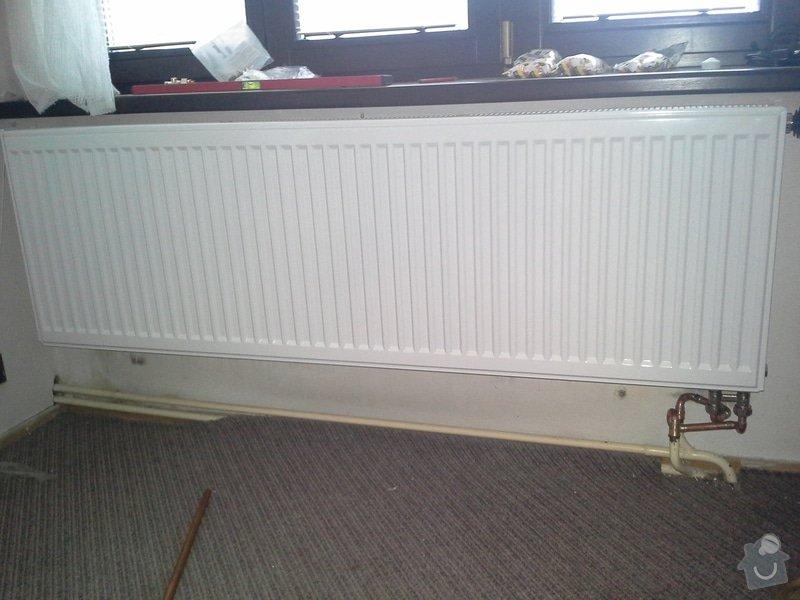 Výměna radiátorů (5ks) + termostatické hlavice: 20140710_140028
