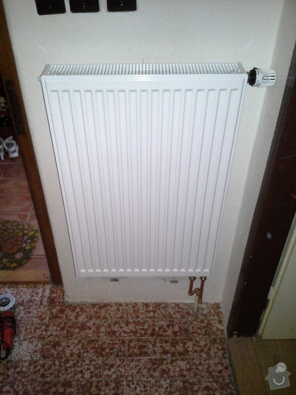 Výměna radiátorů (5ks) + termostatické hlavice: 20140710_181703