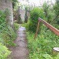 Oprava chodnicku schodiste zvyseni zidky betonovani zabradli  chodnicek 1