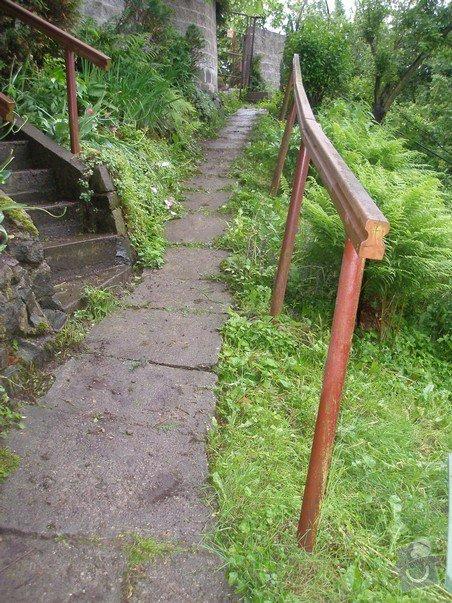 Oprava chodníčku, schodiště, zvýšení zídky, betonování, zábradlí - Ostrava: chodnicek_2