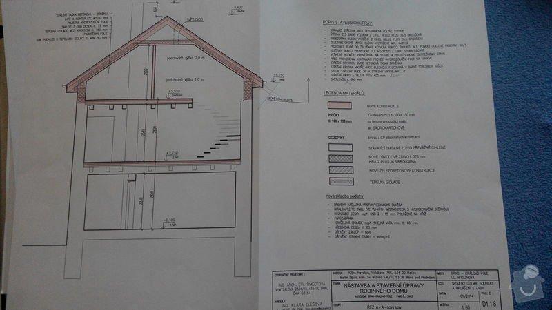 Nádstavba a střecha RD Brno: plany_-_nastavba