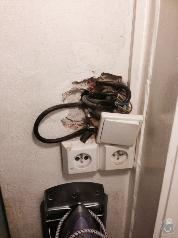 Vymena elektrick0 z8suvky, drobne zednicke prace: photo_1