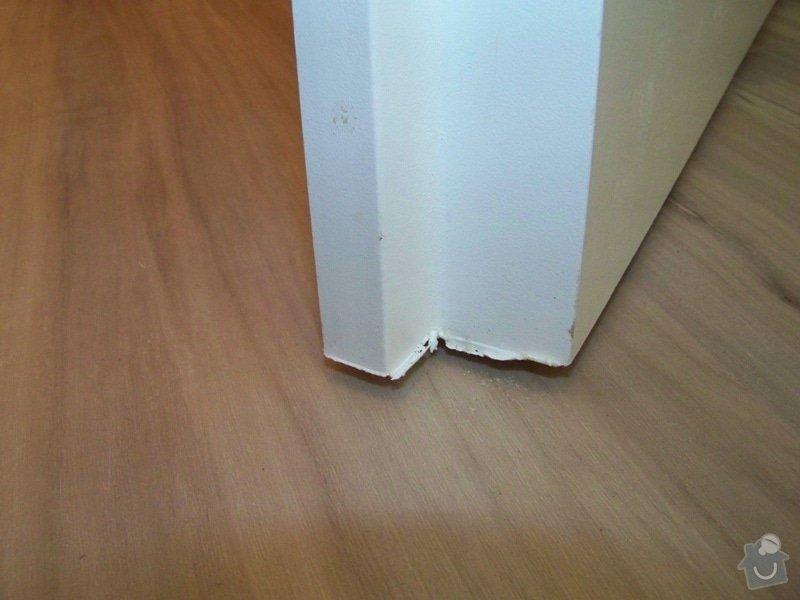 Dodání a montáž interiérových dveří: vada2