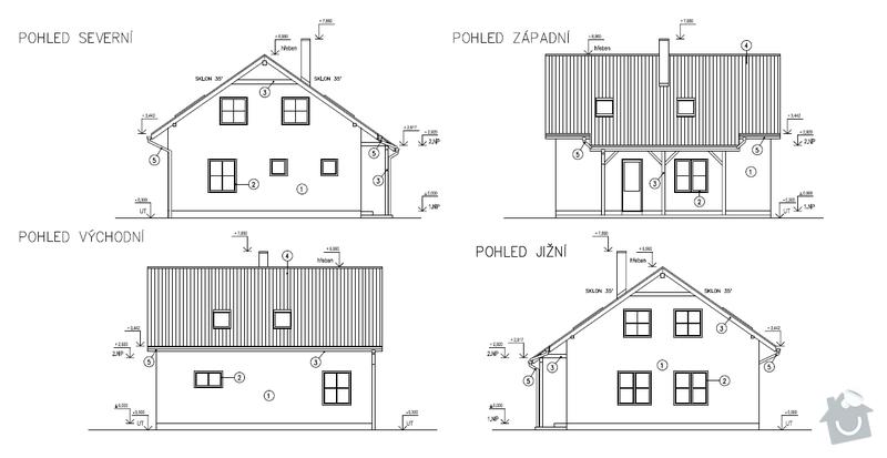 Zhotovení střechy - krov, krytina, montáž střešních oken: pohledy
