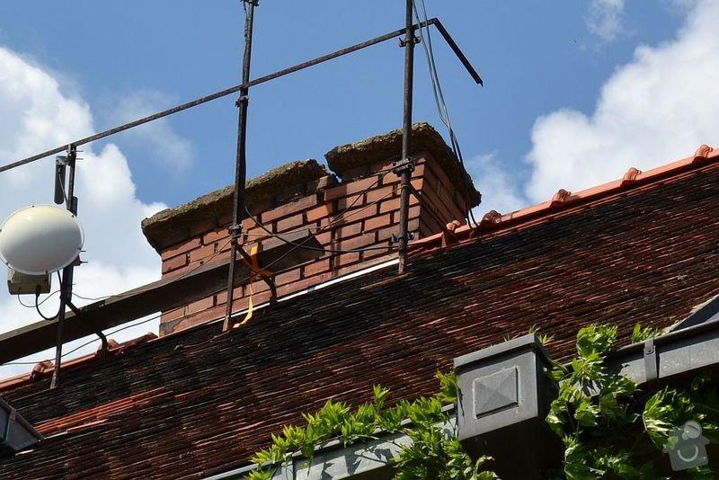 Oprava nadstřešní části komínu - lícové zdivo: CSC_0570