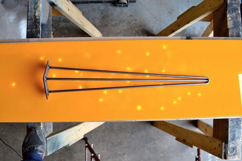 Výroba 4 ks železných nohou stolu: __57