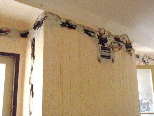 Nahození omítky, oprava stropu a zapravení drážek po elektrice: b_9_