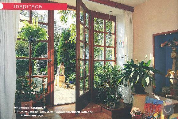2 dřevěná okna: foto_francouzske_okno
