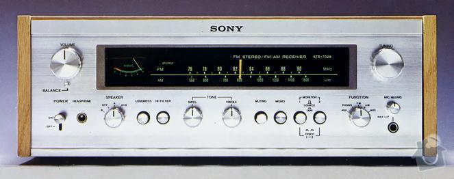 Oprava zesilovace Sony str 7025 (cca 1970): str-7025