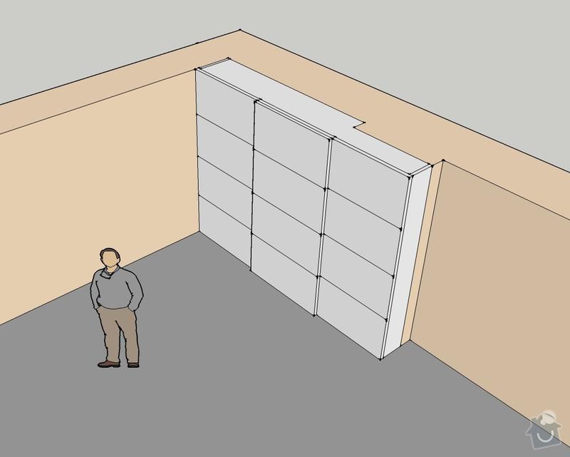 Výroba vestavěných skříni 2ks: obyvak_4