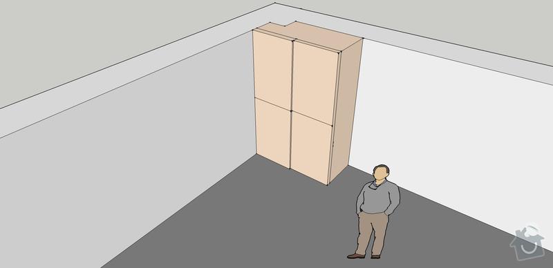 Výroba vestavěných skříni 2ks: predsin4