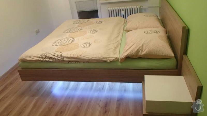 Manželská postel + noční stolky: postel