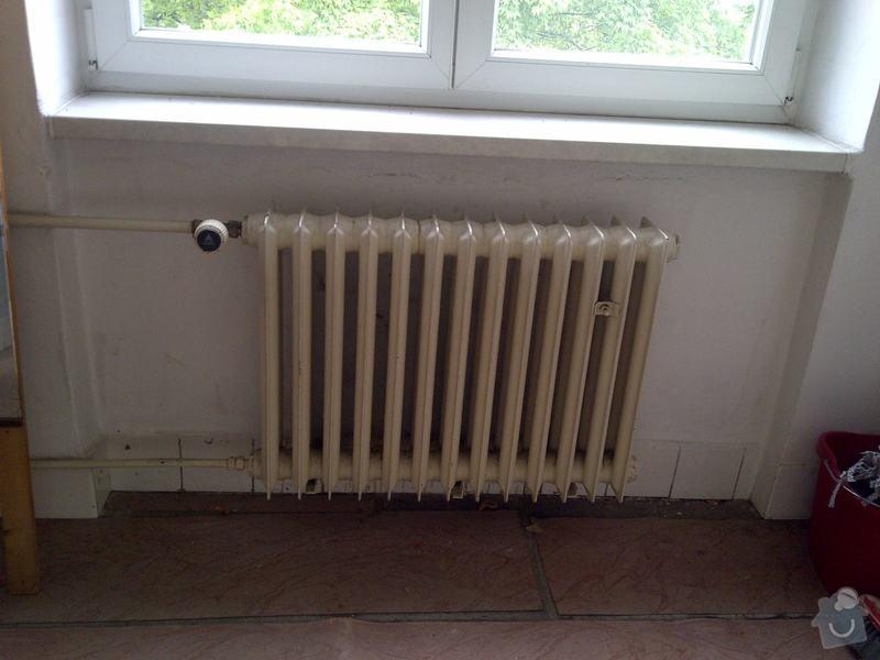 Výměna 3x radiátorů + namontování žebříku do koupelny: kuchyne