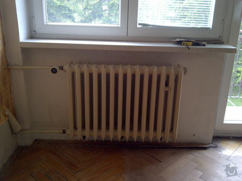 Výměna 3x radiátorů + namontování žebříku do koupelny: loznice