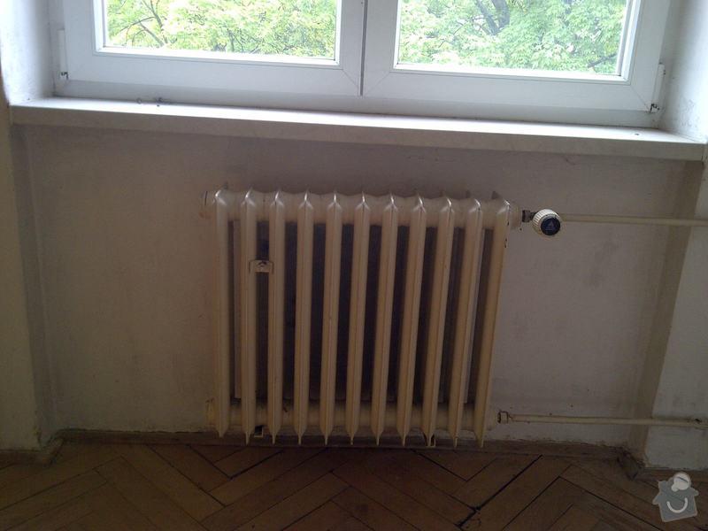 Výměna 3x radiátorů + namontování žebříku do koupelny: obyvak