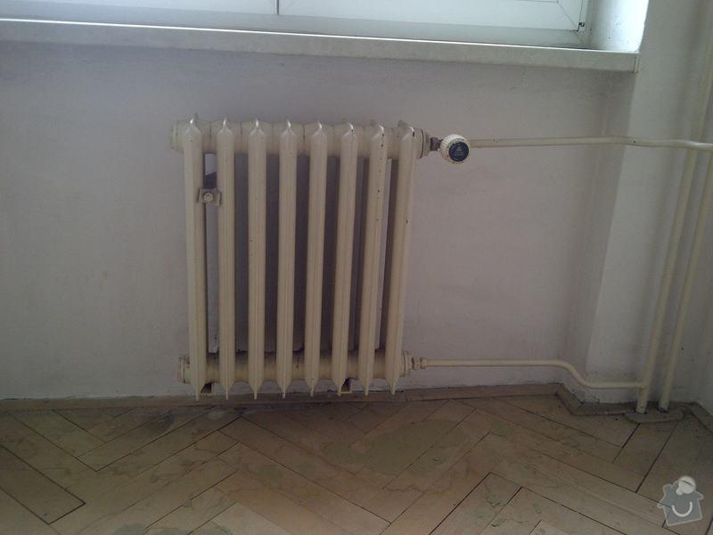 Výměna 3x radiátorů + namontování žebříku do koupelny: pracovna