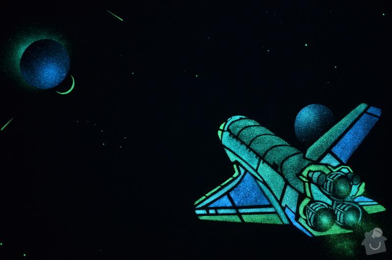Dekorace dvou dětských pokojů noční oblohou: DSC_0521