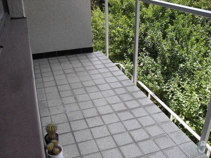 Odstranění staré dlažby,položení IPY na balkóně: SAM_6370